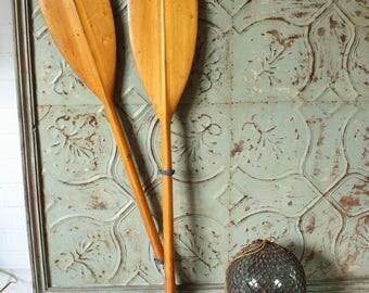 Vintage Klepper wooden kayak Paddle Oar. Comes apart.