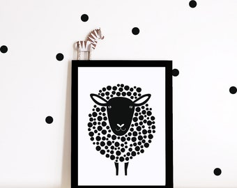 Monochrome nursery wall art, nursery print, monochrome print, nursery decor, kids room poster, kids decor