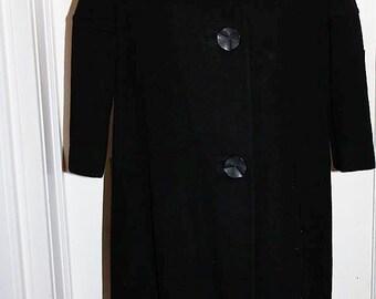 SALE! Vintage Supreme Winter/Spring/Fall Wool Size Medium Fur Ladies Dress Overcoat LC1