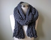 Thick Gray Scarf . Hygge ...