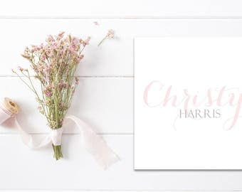 Personalized Calling Cards | Monogrammed Calling Cards | Personalized Gift Tags | Gift Enclosure Cards