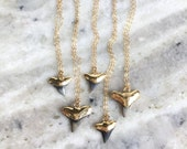 Mano niho kahi Black necklace - gold shark tooth necklace, black gold shark tooth, gold dipped shark tooth necklace, gold fossil shark tooth