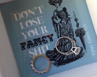 Jewelry holder, ring holder, trinket box, ring box, catch all