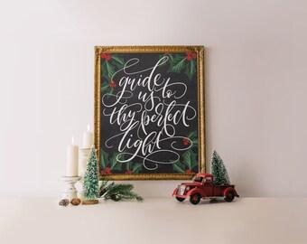 Christian Christmas print, christmas decoration, Christmas canvas print, Holiday decoration, holiday decoration, Christmas art print