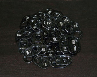 50 Black Aluminum Pull Tabs from Monster Energy Drink