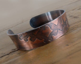 Copper Buttefly Bangle with Message, Mothers Day Gift, Song Lyrics Copper Bangle, Childrens Names Bangle, Personalised Cuff with Butterflies
