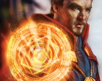 Doctor Strange / Bennedict Cumberpatch 11x17 Print on 70 lb. Luster Paper (Marvel, Comicbook Art, Comic Movies, Avengers, Sherlock)
