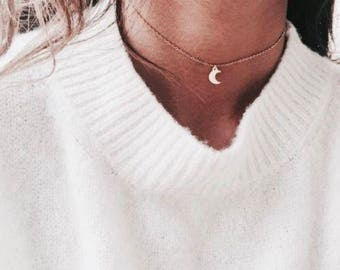 14k Gold Filled Choker with Charm, Chain Choker, Gold Necklace, Gold Choker