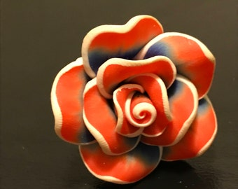 Red and Blue Rose Ring (Adjustable)