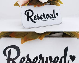 Reserved Sign, Set of 5 -  Reserved Seating For Family, Wedding Sign, Ceremony Sign, Chair Signs, Reserved Table Sign, Reserved Chair Sign