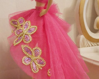 Barbie Modelmuse - Hot Pink tulle dress