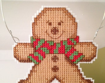 New Gingerbread Man Christmas Cross Stitch Ornament