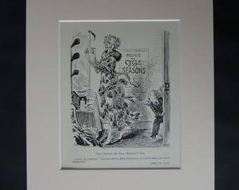 1930s Antique E. H. Shepard Print, Primavera Decor, Available Framed, Cupid Art, Allegory of Spring Gift, Botticelli Picture, PrimrosePrints