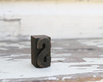 Vintage Letterpress Block Letter Wood Metal Farmhouse Decor Industrial Salvage Fixer Upper Decor S