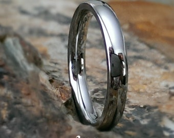 Tungsten Carbide Petite Comfort Fit Personalized Mens Womens Wedding Ring Band 3mm & 4mm Size 4 - 15 - Promise Ring Mans Womans Jewelry AZ11