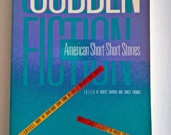 Sudden Fiction: American Short-Short Stories --- Vintage Mini Tales Flash Fiction Anthology --- Retro Reader Author Library Book Home Decor