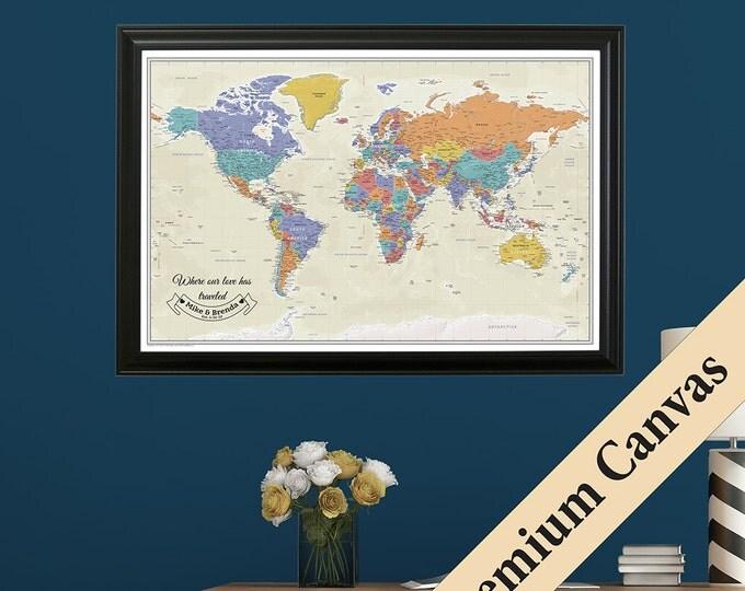 Personalized Anniversary Pushpin World Map.Personalized Anniversary Pushpin World Map Travel Oukas Info