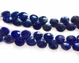 Lapis lazuli faceted briolettes.  Approx. 7x7mm.   Select a quantity.