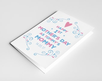 Mother's day card for wife to celebrate their first Mother's day, the perfect gift for a pregnant wife