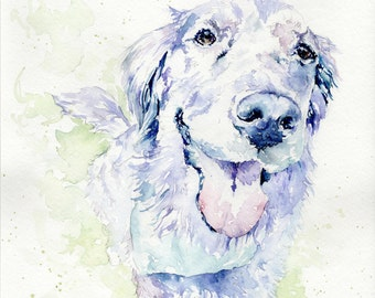 "Custom Watercolor Pet Portraits (11""x14"")"