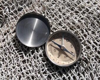 Vintage Silver Compass Working Nautical Tool #sophieladydeparis