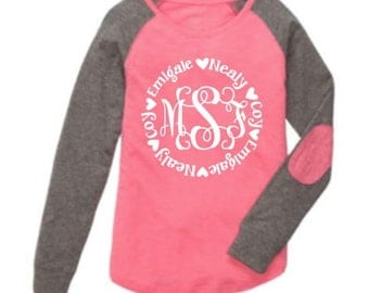Mother's Day Personalized Shirts ~ Includes Monogram Or Nickname Surrounded By Grandchildren Or Children's Names ~ Grandma ~ Mimi ~ Nana