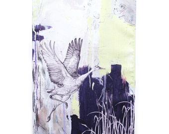 Sandhill Crane Tea Towel