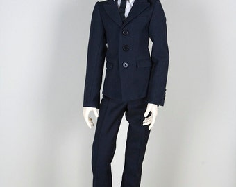 SD13 Navy Formal Tailor Suit Set