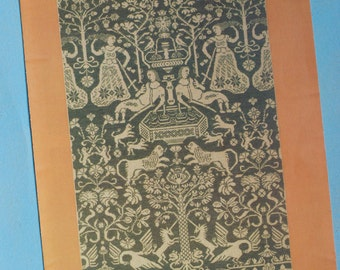 Danish embroidery catalogue vintage Permin design - 4 pages - thin - brochure 34