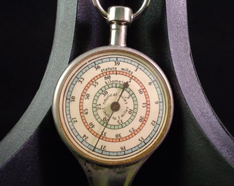 vintage map compass inches to miles Tacro Inc. made in Germany kilometers nautical miles
