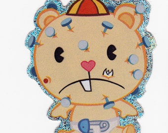 Happy Tree Friends CUB Sticker - Licensed Collectible HTF Pop and Cub Glitter Sticker - Mondo Media - Cuddly and Horribly Wrong