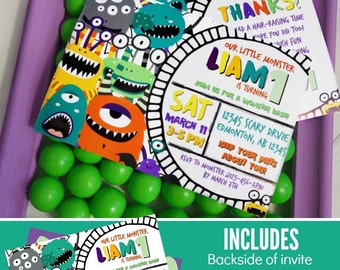Monster Birthday Invitation | Printable Invitation | Monster Birthday | Monster Party | Monster Party Invitation | Epic Parties by REVO