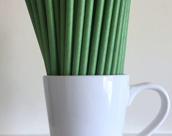 Green Paper Straws Solid Kelly Green Straws Party Supplies Party Decor Bar Cart Cake Pop Sticks Mason Jar Straws  Party Graduation
