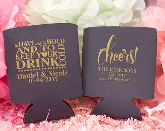 Cheers Custom Can Cooler, To Have To Hold & Keep Your Drink Cold, Wedding Favor, Beer Can Cooler, Personalized Can Cooler, Drink Holder