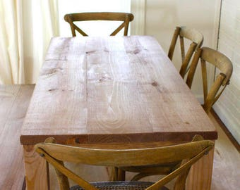 Handmade Solid Wood Table  // Reclaimed Wood Dining Table // Reclaimed Wood Table // Parsons Table // Parson Tables