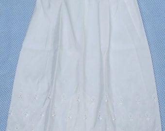 Vintage White Slip - Skirt - Eyelet
