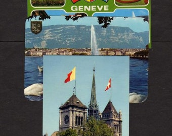 Lot 3 Geneva Switzerland Postcards,Geneve Postcards, Swiss Postcards, UNUSED Postcards, Geneva Postcards, Switzerland Postcards,