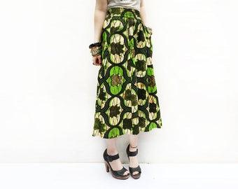 Long African Skirt, Green Maxi Skirt, African Summer Skirt, African Clothing, Elegant Skirt, African Fashion, Long Skirt / XS S M M+ L
