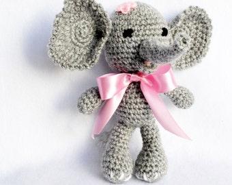 Crochet Animal Elephant for Baby, Newborn Photography Prop
