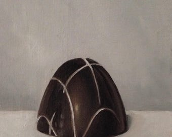 Original oil painting: Chocolate truffle 4x6""