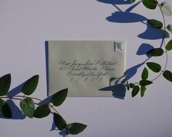 Envelope Calligraphy: Jacqueline Style