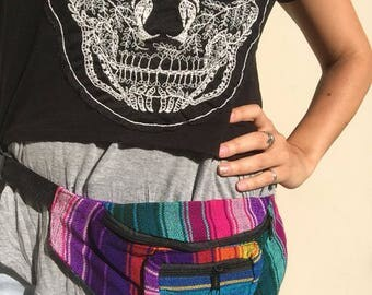 Multicolor Fanny Pack - Hip pack - Handmade in Guatemala (005F)