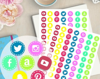 printable stickers printable stickers planner printable planner stickers social media icons social media planner social media stickers - Field Service Organizer