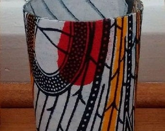 African print tealight holder, votive candle holder, Fathers Day Gift, romantic gift, African Table decor, READY TO SHIP, Detola and Geek