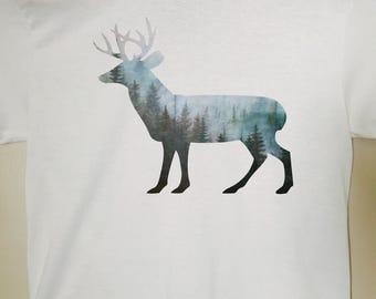 Deer Shirt - Deer Silhouette Shirt - T-Shirt, Tank, Vneck