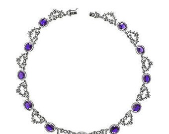 CZ by Kenneth Jay Lane Russian Cushion Collar Necklace