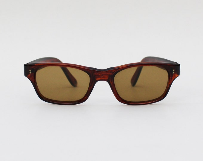 40s Sunglasses - Womens Sunglasses - Dark Brown 1940s Vintage Deadstock Eyewear
