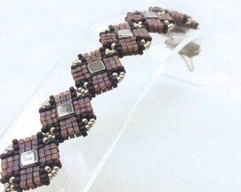 "MaterialKIT reversible bracelet ""Turn Around""  hematite/amethyst"