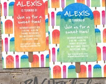 Popsicle Party, Birthday Invitation, Printable