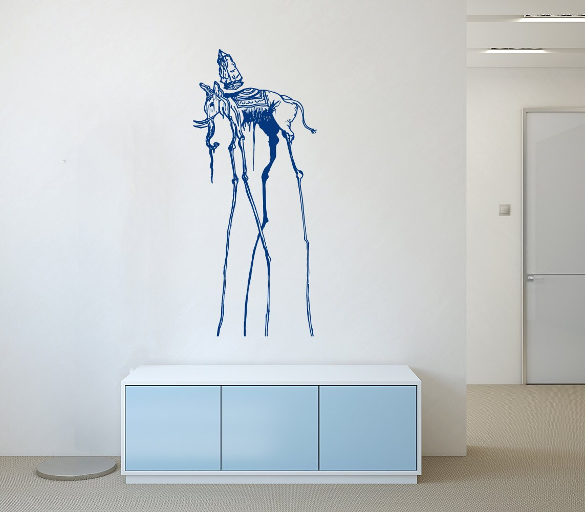 Wall decals salvador dali elephant decal vinyl sticker home zoom amipublicfo Choice Image